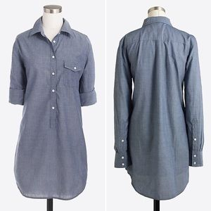 J. Crew Chambray Popover Tunic Top